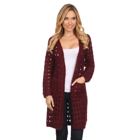 High Secret Women's Solid Color Open Front Cardigan