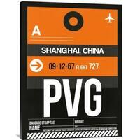Naxart Studio 'PVG Shanghai Luggage Tag II' Stretched Canvas Wall Art
