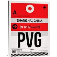 Naxart Studio 'PVG Shanghai Luggage Tag I' Stretched Canvas Wall Art