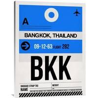 Naxart Studio 'BKK Bangkok Luggage Tag II' Stretched Canvas Wall Art