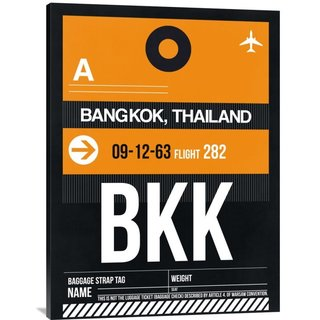 NAXART Studio 'BKK Bangkok Luggage Tag I' Stretched Canvas Wall Art