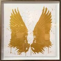 Oliver Gal 'Golden Wings' Framed Art - 43 x 43