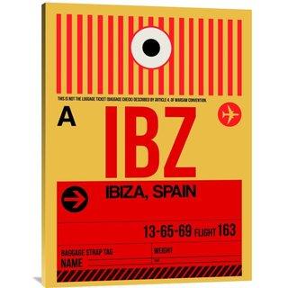 NAXART Studio 'IBZ Ibiza Luggage Tag I' Stretched Canvas Wall Art