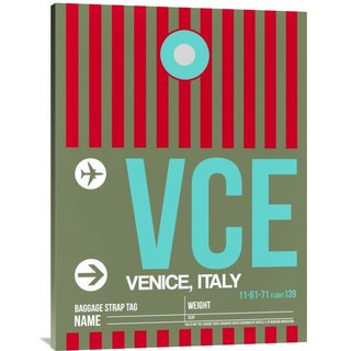 Naxart Studio 'VCE Venice Luggage Tag II' Stretched Canvas Wall Art