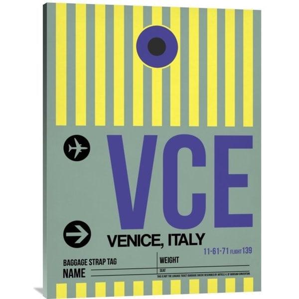 NAXART Studio 'VCE Venice Luggage Tag I' Stretched Canvas Wall Art