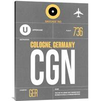 NAXART Studio 'CGN Cologne Luggage Tag II' Stretched Canvas Wall Art