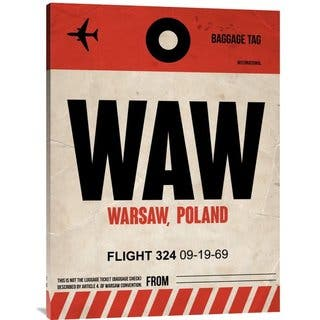 NAXART Studio 'WAW Warsaw Luggage Tag I' Stretched Canvas Wall Art