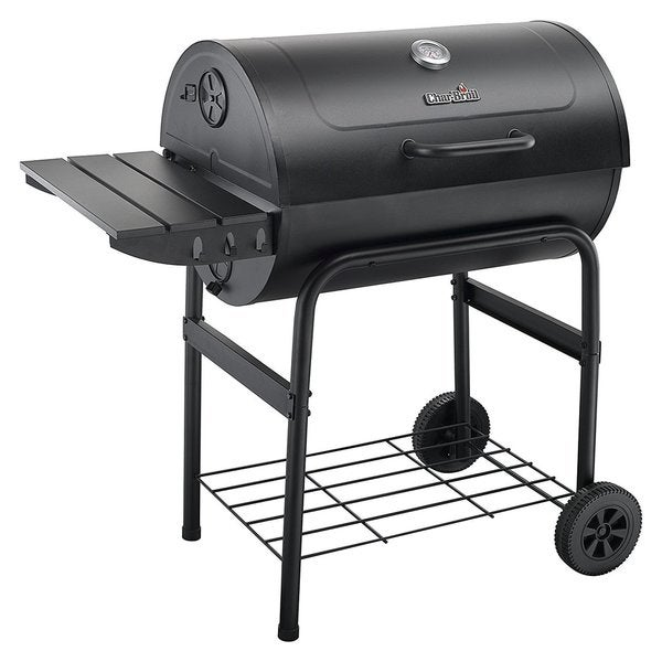 char broil charcoal 840 cast iron barrel grill free shipping today 20656308. Black Bedroom Furniture Sets. Home Design Ideas
