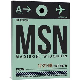Naxart Studio 'MSN Madison Luggage Tag I' Stretched Canvas Wall Art