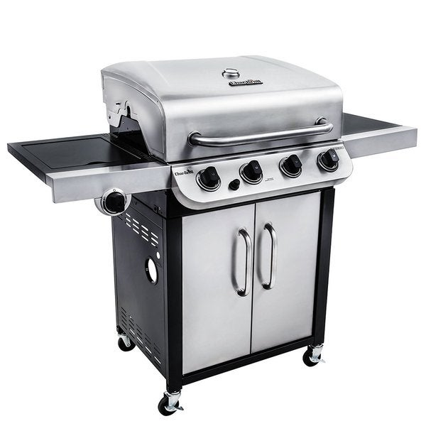 Char-Broil Performance Series 3600 BTU 4 Burner Stainless Steel Gas Grill with Side Burner - Silver/Black
