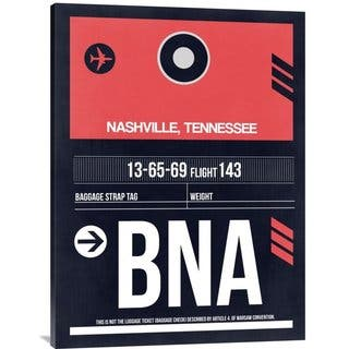 NAXART Studio 'BNA Nashville Luggage Tag I' Stretched Canvas Wall Art