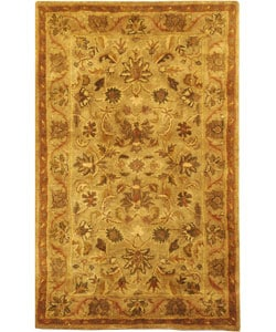 Safavieh Handmade Antiquities Kasadan Olive Green Wool Rug (2' x 3')