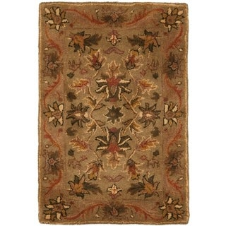 Safavieh Handmade Antiquities Kasadan Olive Green Wool Rug - 2' X 3'