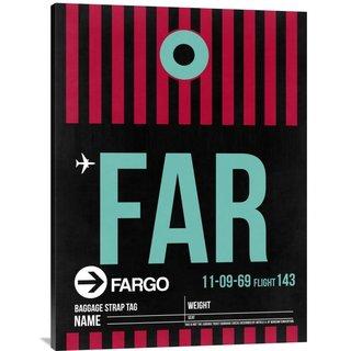 NAXART Studio 'FAR Fargo Luggage Tag I' Stretched Canvas Wall Art