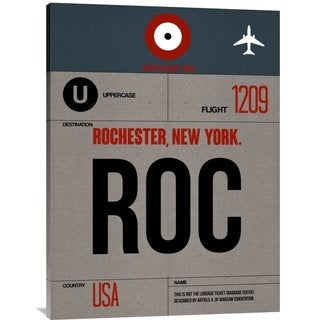 NAXART Studio 'ROC Rochester Luggage Tag I' Stretched Canvas Wall Art