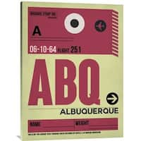 NAXART Studio 'ABQ Albuquerque Luggage Tag II' Stretched Canvas Wall Art