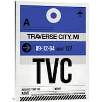 Naxart Studio 'TVC Traverse City Luggage Tag I' Multicolored Stretched Canvas Wall Art