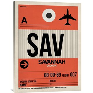 Naxart Studio 'SAV Savannah Luggage Tag I' Stretched Canvas Wall Art