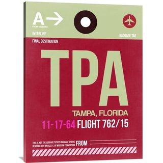 Naxart Studio 'TPA Tampa Luggage Tag II' Stretched Canvas Wall Art