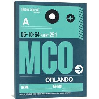 Naxart Studio 'MCO Orlando Luggage Tag II' Stretched Canvas Wall Art