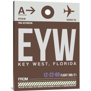 NAXART Studio 'EYW Key West Luggage Tag II' Stretched Canvas Wall Art