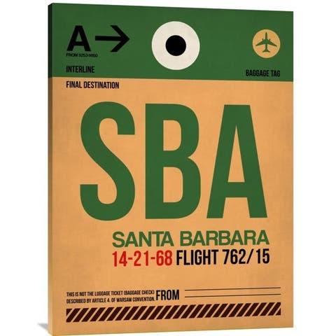 Naxart Studio 'SBA Santa Barbara Luggage Tag I' Stretched Canvas Wall Art