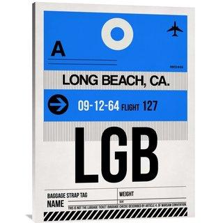 Naxart Studio 'LGB Long Beach Luggage Tag I' Stretched Canvas Wall Art