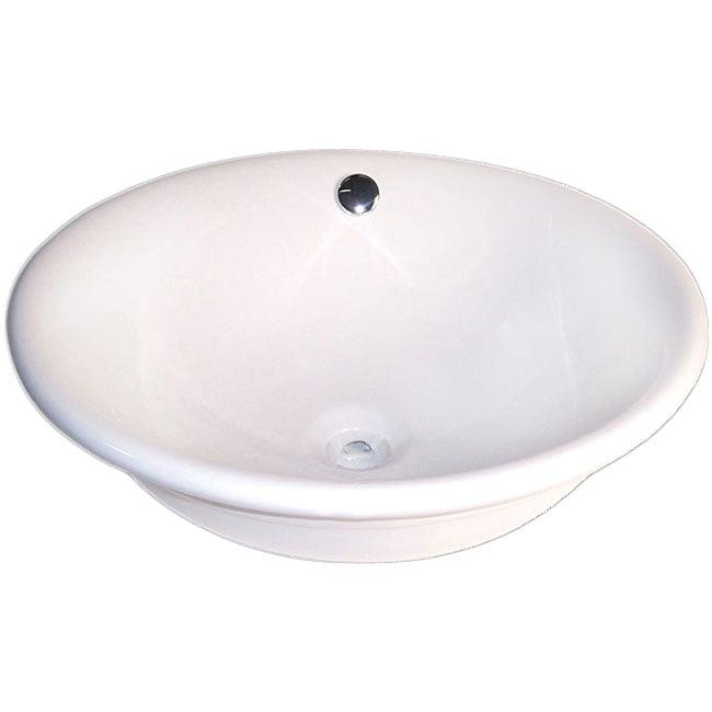 Fontaine Decorative Round Porcelain Vessel Sink
