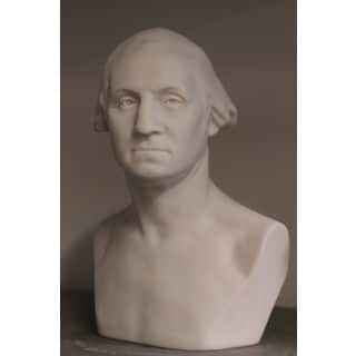 White Bonded 11-inch Marble Bust of George Washington