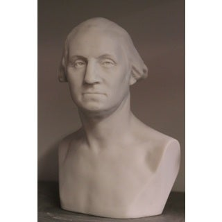 White Bonded 11-inch Marble Bust of George Washington