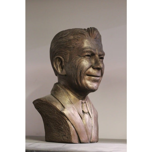 Shop Bonded Marble 10 Inch Head Bust Of Ronald Reagan