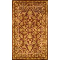 Safavieh Handmade Exquisite Wine/ Gold Wool Rug - 3' x 5'