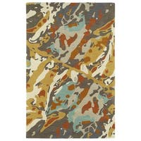 Hand-Tufted Artworks Painted Multi Rug - 9' x 12'