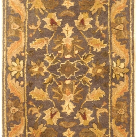 Safavieh Handmade Antiquities Kasadan Blue/ Gold Wool Rug - 2' x 3'