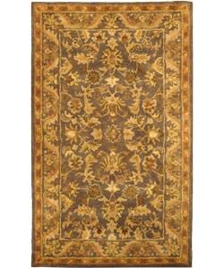 Safavieh Handmade Exquisite Blue/ Gold Wool Rug (3' x 5')