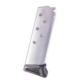 Mecgar Walther PPK 380 Magazine 6 Round, Finger Rest, Nickel