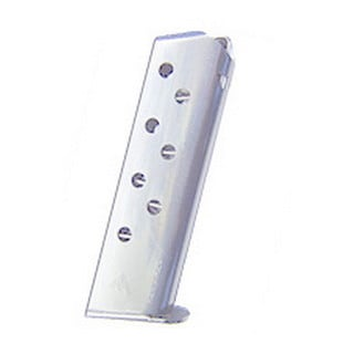 Mecgar Walther 32 ACP Magazine 8 Round, Flat Butt Plate, Nickel