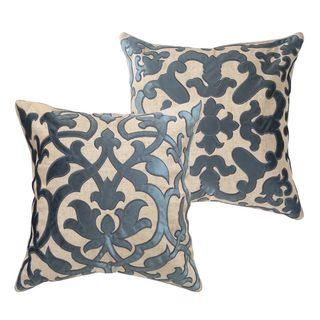Ironwork Embroidered Design Throw Pillow