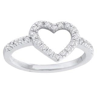 14k Gold 1/5ct TDW Round Diamond Bridal Heart Promise Engagement Ring (I-J, I2-I3)