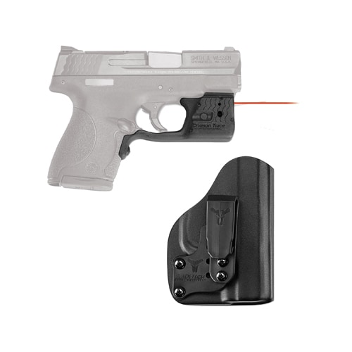 Crimson Trace Laserguard Pro M&P Shield, Red with Blade Tech IWB Holster, Boxed
