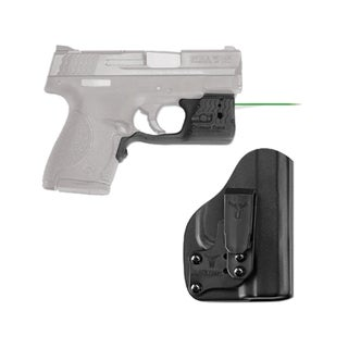 Crimson Trace Laserguard Pro M&P Shield, Green with Blade Tech IWB Holster, Boxed