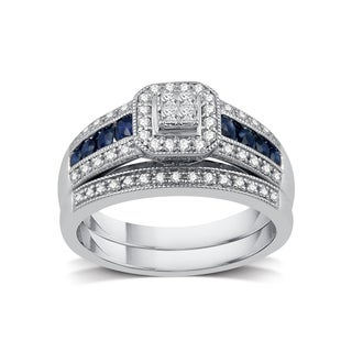 1/3 ct. TDW Diamond Engagement Bridal Set in Platinaire