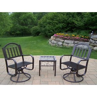 Hometown Set with 2 Swivel Chairs and End Table