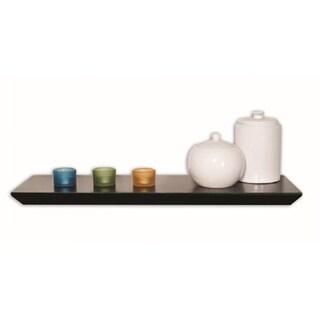 InPlace 24-inch Black Angular Bracketless Wall Shelf