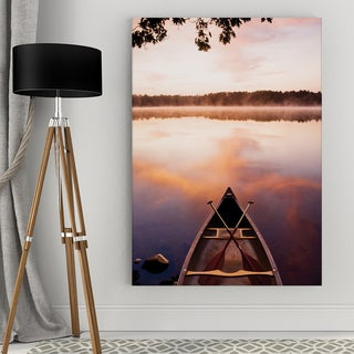 Lake At Dawn Canvas Wall Art