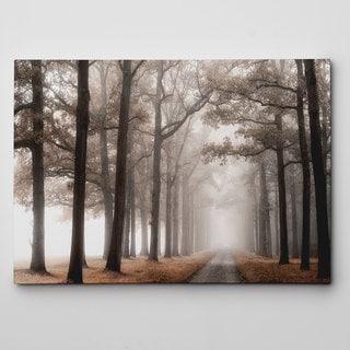 Misty Road Canvas Wall Art