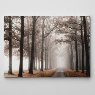 Misty Road Canvas Wall Art