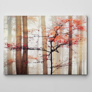 Orange Awakening Canvas Wall Art (2 options available)