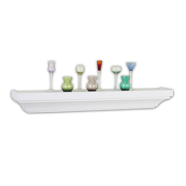 InPlace 30-inch Mission White Mantle Shelf