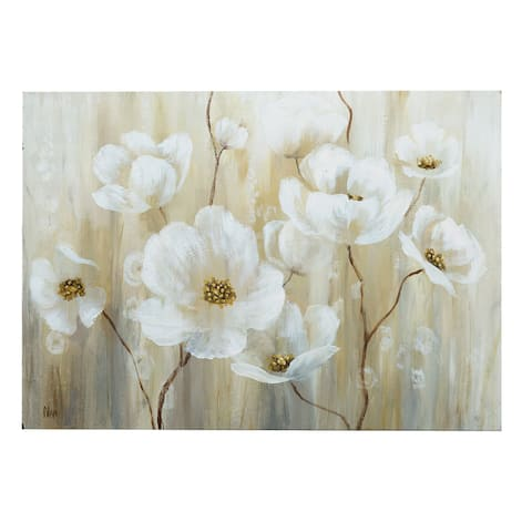 Shimmering Blossoms Canvas Wall Art